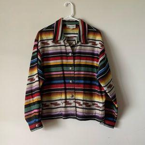 Vintage kilim southwestern Navajo tapestry jacket